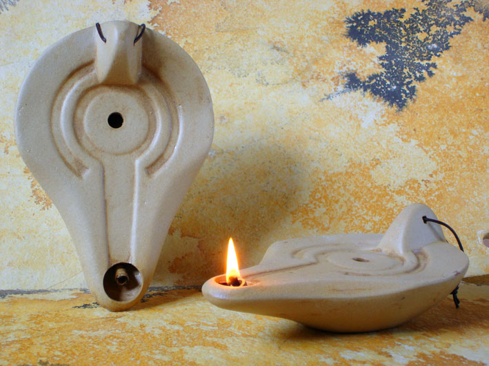Ancient Ceramic Olive Oil Lamps Gods And Goddess Of