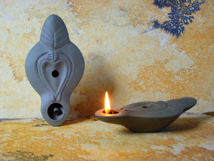 Ancient Ceramic Olive Oil Lamps Oil Lamps Without Decoration