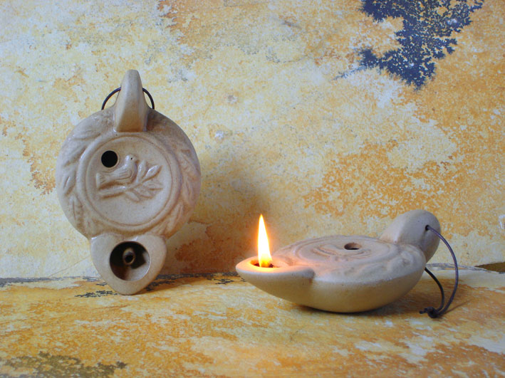 Ancient Ceramic Olive Oil Lamps Oil Lamps With Decoration